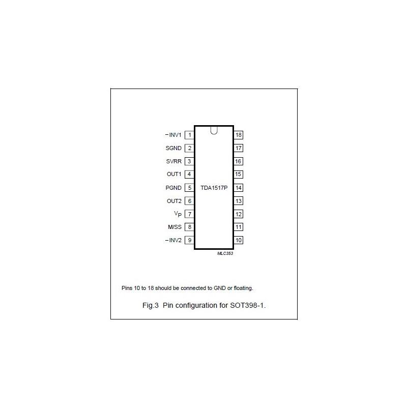 TDA1517P ( DIP 18.